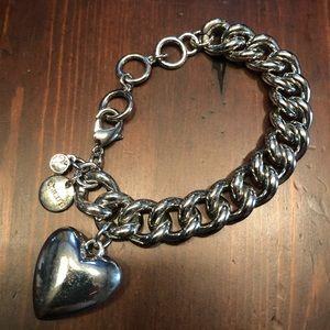 Chico's Silver Heart Bracelet